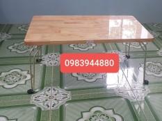 bàn gấp gỗ cao su tự nhiên dày 18mm