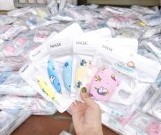 Set 5 cái khẩu trang y tế 4 lớp kháng khuẩn cao cấp hoạ tiết dễ thương Kichi 3D Mask kháng khuẩn an toàn cho bé