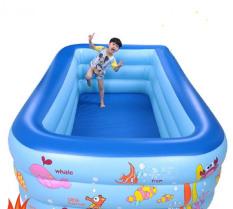 Hồ Bơi Mini Trong Nhà – Khám phá ngay Bể bơi phao cho bé yêu – Ngộ nghĩnh đáng yêu, An toàn với trẻ nhỏ + Tặng ngay 1 Bơm bể bơi cao cấp