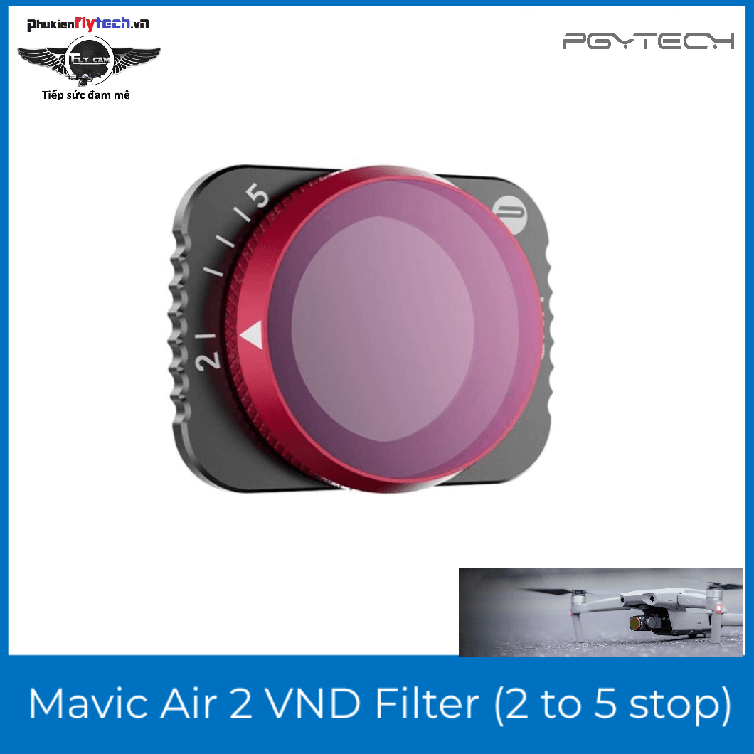 Kính lọc PGYtech Mavic Air 2 VND Filter (2 to 5 stop) – Professional