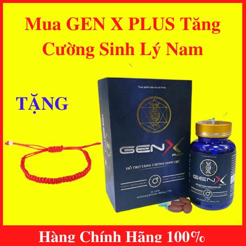 Gen X Plus – Viên uống tăng cường sinh lý nam – Hộp 24 viên – TẶNG kèm vòng tay phong thủy xịn xò – AN001