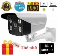 Camera wifi Yoosee ngoài trời quay đêm có màu IPW011+ thẻ nhớ Sandisk 32gb class 10