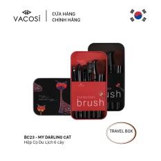 Vacosi Hộp Cọ Trang Điểm Du Lịch 6 Cây My Darling Travel Brush Set BC23