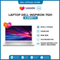 Laptop Dell Inspiron 7501 15.6 inches FHD (Intel / i7-10750H / 8GB / 512GB SSD / NVIDIA GeForce GTX 1650Ti, 4GB GDDR6 / Win 10 Home SL) l Silver l X3MRY1 l HÀNG CHÍNH HÃNG