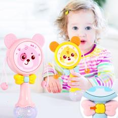 [HCM]Lục lạc cho bé đồ chơi lục lạc cho bé xúc xắc có nhạc và đèn phát sáng hình mặt gấu ngộ nghĩnh Baby-S – SDC050