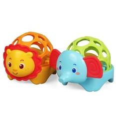 Đồ chơi lục lạc cho bé – Bóng lục lạc mềm phát đèn nhạc Toyshouse -01504