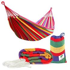 Võng vải kẻ sọc 2 lớp đa năng, võng vải dù du lịch đa năng tiện dụng – MS.SP002060-KTX