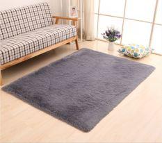 Thảm lông trải sàn phòng khách Xám
