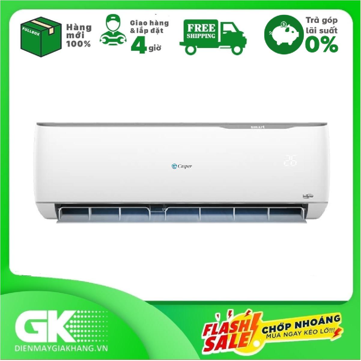 TRẢ GÓP 0% – Máy lạnh Casper Inverter 1.5 HP GC-12TL32 , mẫu mới 2020 – BTRẢo hành 36 tháng