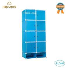 Tủ nhựa lắp ráp 8 ngăn lớn và 2 ngăn nhỏ Thanh Long TN-07