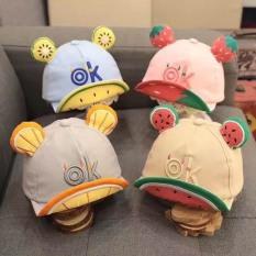 (233) Mũ tai hoa quả cực kì đáng yêu dành cho bé-hàng quảng châu cao cap