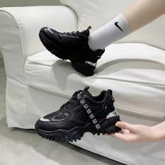 (VIDEO) giày nữ thể thao Fashion Gót bạc siêu đẹp dây chữ kiểu dáng ulzzang cá tính