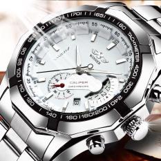 Đồng hồ nam Winner W050 cơ lộ máy có lịch