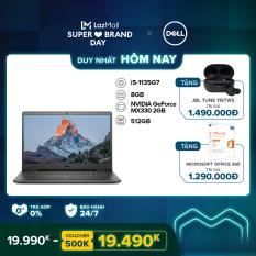 [SIÊU SALE 99] Laptop Dell Inspiron 3501 15.6 inches FHD (Intel / i5-1135G7 / 8GB / 512GB SSD / NVIDIA Geforce MX330, 2GB / McAfee MDS / Win 10 Home SL) l Black l P90F006 (70234074) l HÀNG CHÍNH HÃNG