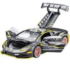 Siêu xe ô tô mô hình kim loại Lambo Racing Huracan tỷ lệ 1:32
