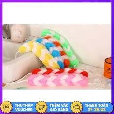 Bông tắm tạo bọt cọ lưng loại tròn – dài nhiều màu tiện dụng