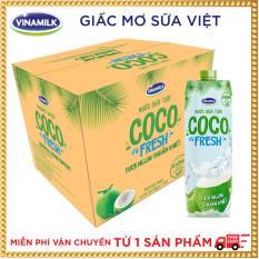 Thùng 12 hộp Nước dừa tươi Cocofresh 1L
