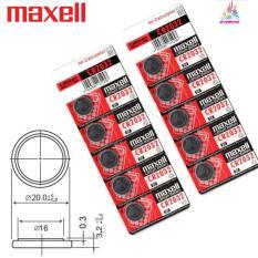 Vỉ 5 viên pin CMOS CR2032 Maxell Lithium Battery 3V Hoạt động bền bỉ Pin không chứa Hg & cd, Không độc hại cho sức khoẻ