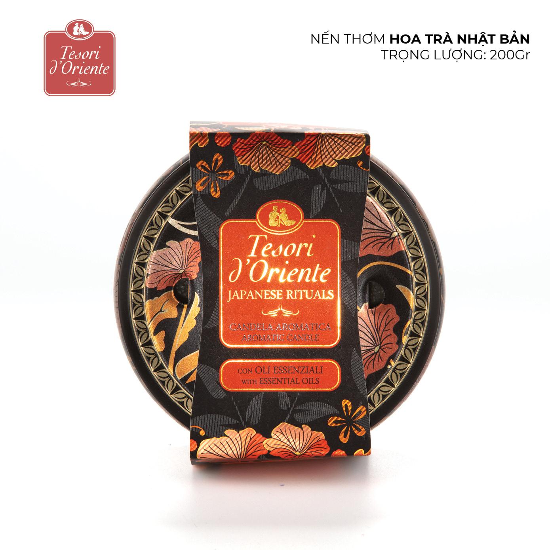 Nến thơm phòng Tesori d'Oriente Hoa trà Nhật Bản 200gr