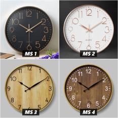 Đồng hồ treo tường Quartz kim trôi 30cm (Chọn 16 màu) BH 12 tháng, Freeship, Tặng Pin