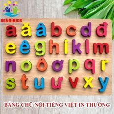 Đồ Chơi Gỗ Bảng Chữ Cái Tiếng Việt In Thường Nổi Cho Bé (Hàng Việt Nam)