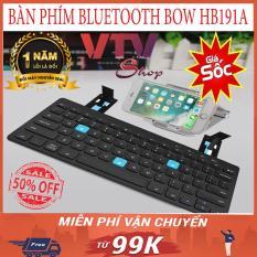 Bàn phím, Bàn phím không dây, Bàn phím bluetooth, Bàn phím BOW cao cấp, dùng được cho tất cả các thiết bị di động, IPAS,MACBOOK,LAPTOP,PC…Bảo hành 1 đổi 1, SALE 50% 1