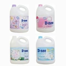 Nước giặt xả Dnee 3l (2 trong 1), có quấn băng keo trên miệng nắp để đảm bảo chắc chắn khi vận chuyển sẽ cố định nắp không làm nước giặt tràn ra ngoài