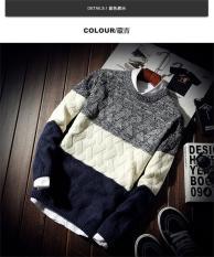 Áo len nam cổ tròn phối màu Quảng Châu thời trang M014 AL