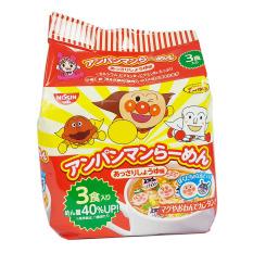 Mỳ Nissin Ramen Anpaman Màu Đỏ 88g (4*22g) Nhật Bản, Mì Hữu Cơ Cho Bé, Mì Cho Bé Ăn Dặm, Mì Em Bé, Mì Tôm Cho Bé