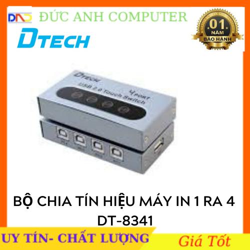 Bộ chia tín hiệu máy in 1 ra 4 DTECH DT- 8341- Chính Hãng 100%, Bảo Hành 1 Năm