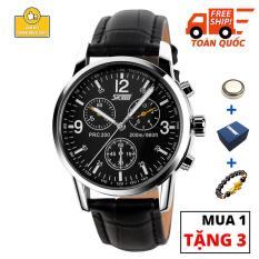 Đồng hồ nam SKM20 chống nước dây da được thiết kế chuẩn chỉ