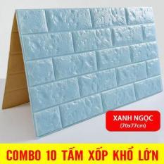 Sale Giá Gốc 10 tấm Xốp Dán Tường 3D Giả Gạch / Chịu lực, chống nước, chống ẩm mốc / 70x77cm Tranh Treo Tường SuperDecor