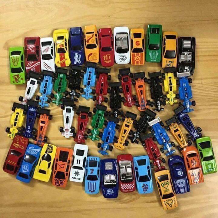 Bộ đồ chơi 50 ô tô sắt mô hình