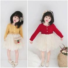 Váy xòe điệu đà kiểu dáng Hàn quốc cho bé gái QATE389