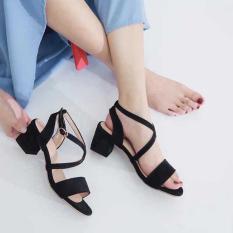 Giày Sandal Cao Gót 7cm Quai Dây Chéo Siêu Tôn Dáng H.A FASHION