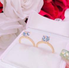 Nhẫn vàng nữ, nhẫn kim tiền mạ vàng đính đá pha lê xinh đẹp sáng lấp lánh thời trang đeo may mắn bình an hạnh phúc Gado N010 chạm khắc hoa văn tinh tế sang trọng thiết kế thời trang