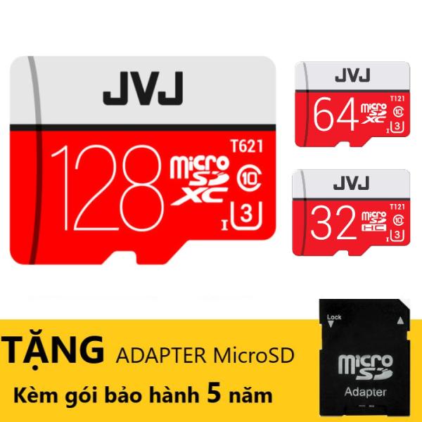 Thẻ nhớ 128Gb/64Gb/32Gb/16Gb JVJ Pro U3 Class 10 Tặng kèm ADAPTER MicroSD – chuyên dụng cho CAMERA tốc độ cao 100MB/s thẻ nhớ cho camera wifi, camera hành trình, điện thoại, máy chơi game, ..the nho chất lượng hình ảnh 4k BH 5 Năm