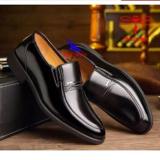 Giày tây nam da bò thật dành cho người trẻ, trung niên , cao niên . Bảo hành 12 tháng Giày Cổ điển Da Doanh Nhân Đơn Giản Giày xỏ nam Giày Tây Giày Công Sở hàng hiệu cao cấp giá rẻ sang trọng giày ông già giày của bố O-6 màu đen