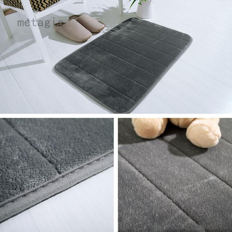 FG Thời Trang Và Tiện Lợi Coral Velvet Memory Foam Carpet Hấp Thụ Nước Chống Trượt Cửa Mat Cho Nhà Bếp