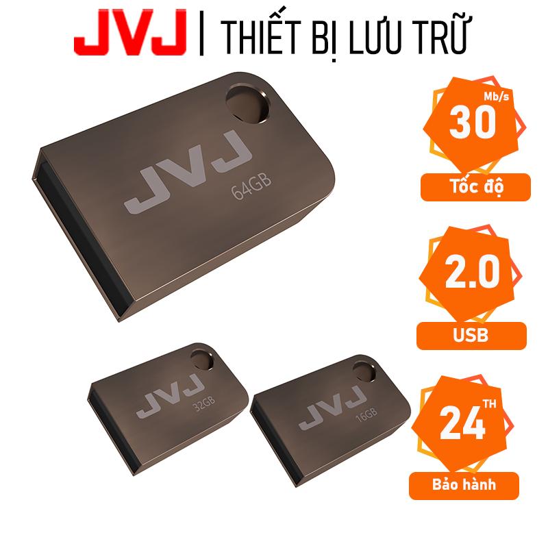 USB 64G/32G/16G JVJ S2 siêu nhỏ vỏ kim loại - USB 2.0, tốc độ upto 100MB/s siêu nhỏ chống sốc...