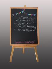 Bảng menu đen 60×80 kèm giá đỡ bảng.