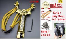 Cao Su Na đồ chơi dây tròn có thêm na bàn ( Màu đồng không rỉ ) -Tặng ngay 1 dây dự phòng + 100v bi 8mm + 1 bao da đựng ( quà tặng trị giá 85k )
