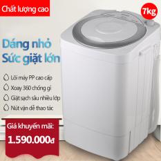 Máy giặt 7kg máy màu xám máy giặt mini tiện dụng dung tích lớn tiết kiệm điện Angel wings