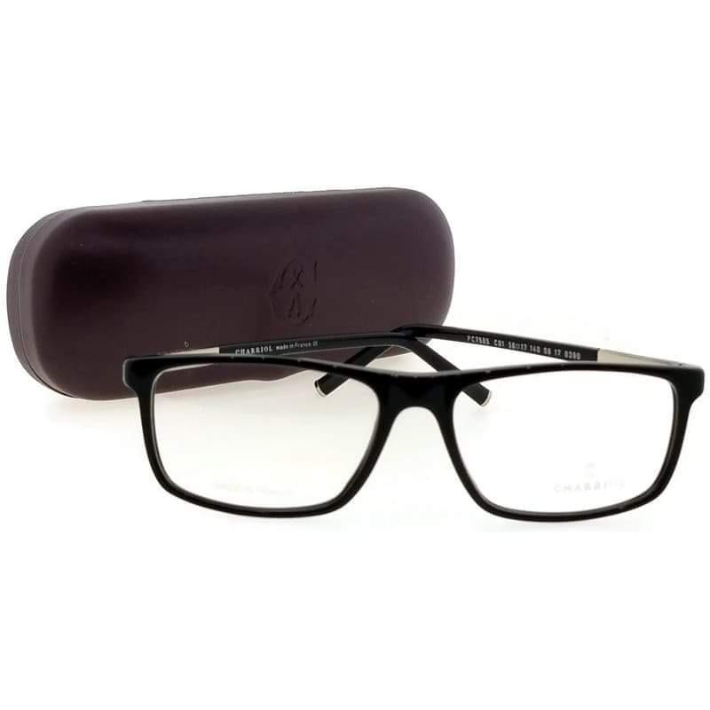 Gọng kính nam chính hãng Philippe Charriol PC 7517 C03 Grey/Black xách tay Mỹ