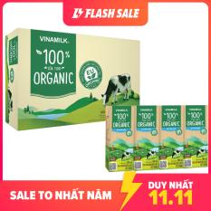 [FREESHIP TOÀN QUỐC]-Thùng 48 hộp Sữa tươi Vinamilk 100% Organic 180ml