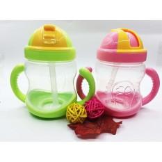 Bình uống nước chống đổ, bình uống nước cho bé chống đổ, có nắp gạt dễ dàng đóng mở