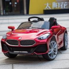 Ô tô xe điện trẻ em BMW Z4 tự lái và remote cho bé vận động ngoài trời (Đỏ-Trắng-Cam)