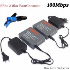 Bộ chuyển đổi quang điện Netlink 3100 AB – 1 cặp – Kèm 2 đầu FastConnect Converter quang