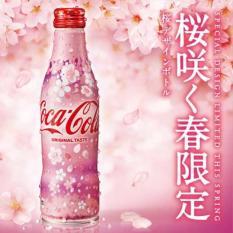 Combo 6 Chai Nước Ngọt Coca Cola Original Taste Japan Limited Sakura Cherry Blossom Aluminum (6x250ml)