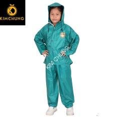 Áo mưa trẻ em vải dù cao cấp, áo mưa bộ cho bé (Từ 3-10 tuổi)